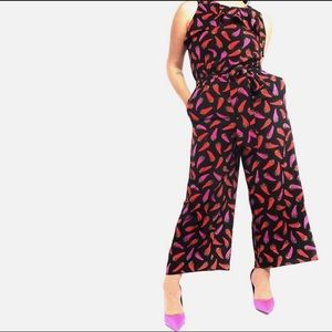 NWOT: Kate Spade hot pepper jumpsuit